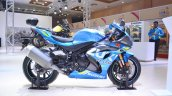 2018 Suzuki GSX-R1000R Blue right side at 2018 Auto Expo