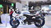 2018 Suzuki GSX-R1000R White left side at 2018 Auto Expo