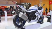 2018 Suzuki GSX-R1000R White rear right quarter at 2018 Auto Expo