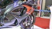 2018 Suzuki Hayabusa Black right side fairing at 2018 Auto Expo