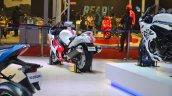2018 Suzuki Hayabusa White rear left quarter at 2018 Auto Expo