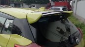 2018 Toyota Yaris TRD Sportivo (facelift) rear spoiler spy shot