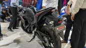 2018 Yamaha YZF-R3 Black rear left quarter at 2018 Auto Expo