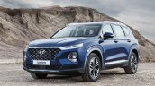 2019 Hyundai Santa Fe front three quarters