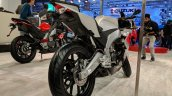 Aprilia RS 150 rear right quarter at 2018 Auto Expo