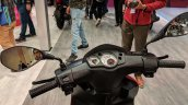 Aprilia Storm Red cockpit at 2018 Auto Expo