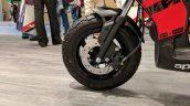 Aprilia Storm Red front wheel at 2018 Auto Expo