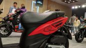 Aprilia Storm Red left body panel at 2018 Auto Expo