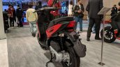 Aprilia Storm Red rear left quarter at 2018 Auto Expo