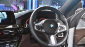 BMW 6 Series Gran Turismo steering wheel at Auto Expo 2018