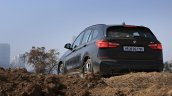 BMW X1 M Sport review rear three quarters view low