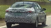 Brazilian-spec Toyota Vios (Toyota Yaris Sedan) rear three quarters right side spy shot