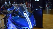 Emflux One headlight at 2018 Auto Expo