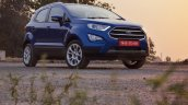 Ford EcoSport Petrol AT review front angle view low