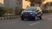 Ford EcoSport Petrol AT review front three quarters motion
