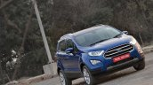 Ford EcoSport Petrol AT review front three quarters titl