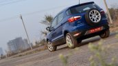 Ford EcoSport Petrol AT review rear angle tilt