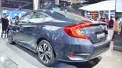 Honda Civic rear three quarters at Auto Expo 2018