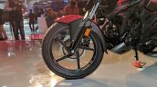 Honda X-Blade Red front wheel at 2018 Auto Expo