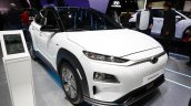 Hyundai Kona Electric front three quarters at 2018 Geneva Motor Show