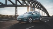 Hyundai Kona Electric front three quarters