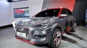 Hyundai Kona at Auto Expo 2018 front three quarters
