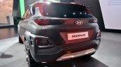 Hyundai Kona at Auto Expo 2018 rear three quarters