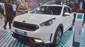 Kia Niro plug-in hybrid front three quarters left side at Auto Expo 2018