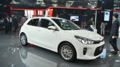 Kia Rio front three quarters right side at Auto Expo 2018