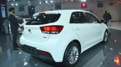 Kia Rio rear three quarters at Auto Expo 2018