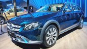 Mercedes E-Class All-Terrain front three quarters at Auto Expo 2018