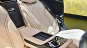 Mercedes-Maybach S 650 Saloon rear-seat armrest at Auto Expo 2018
