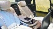 Mercedes-Maybach S 650 Saloon rear seats at Auto Expo 2018