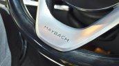 Mercedes-Maybach S 650 Saloon steering wheel Maybach branding at Auto Expo 2018