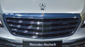 Mercedes-Maybach S 650 Saloon upper grille at Auto Expo 2018