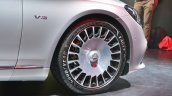 Mercedes-Maybach S 650 Saloon wheel and fender badge at Auto Expo 2018
