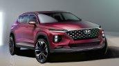 New generation Hyundai Santa Fe sketch front three quarters