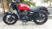 Royal Enfield Thunderbird 350X Red spied ahead of launch left side