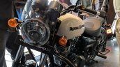 Royal Enfield Thunderbird 350X White with accessories front left quarter India launch