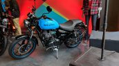 Royal Enfield Thunderbird 500X Blue left side India launch