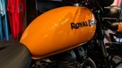 Royal Enfield Thunderbird 500X Orange fuel tank India launch