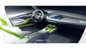Skoda Vision X concept interior teaser