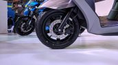 Suzuki Burgman Street front wheel at 2018 Auto Expo