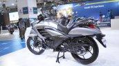 Suzuki Intruder 150 FI rear left quarter at 2018 Auto Expo