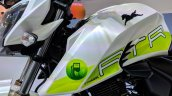 TVS Apache RTR 200 Fi Ethanol fuel tank at 2018 Auto Expo