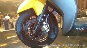 TVS Ntorq 125 India launch yellow front brake
