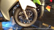 TVS Ntorq 125 India launch yellow front wheel