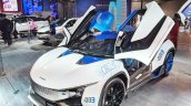 Tamo Racemo± EV front three quarters at Auto Expo 2018