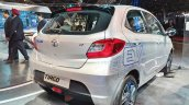 Tata Tiago EV rear three quarters at Auto Expo 2018