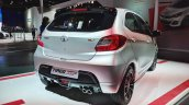 Tata Tiago JTP rear three quarters at Auto Expo 2018